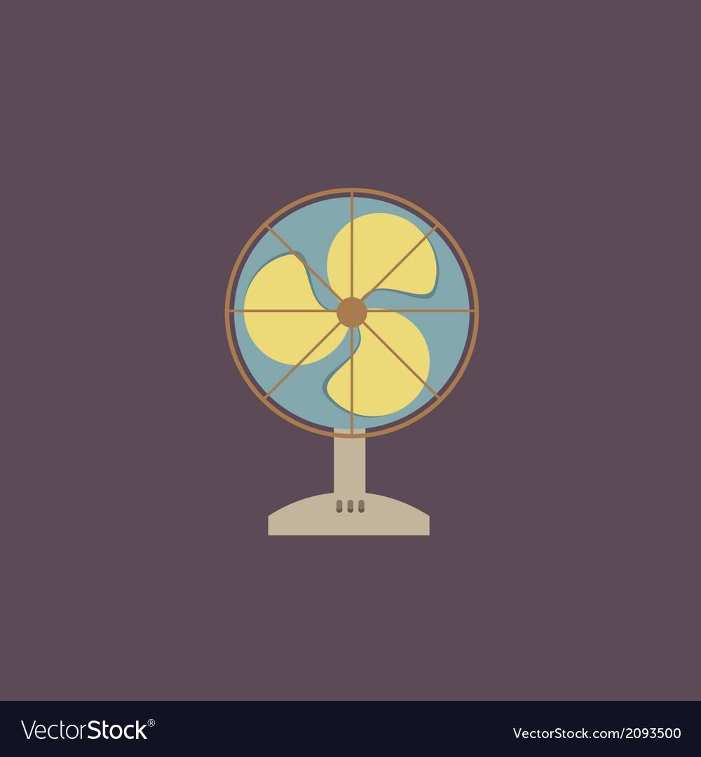 Flat Design Electric Fan