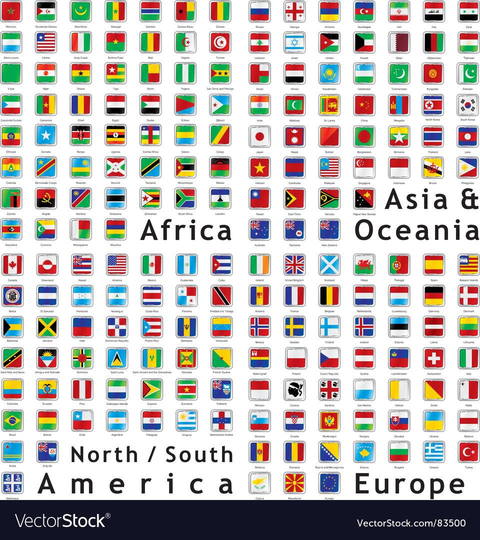 World flags web buttons