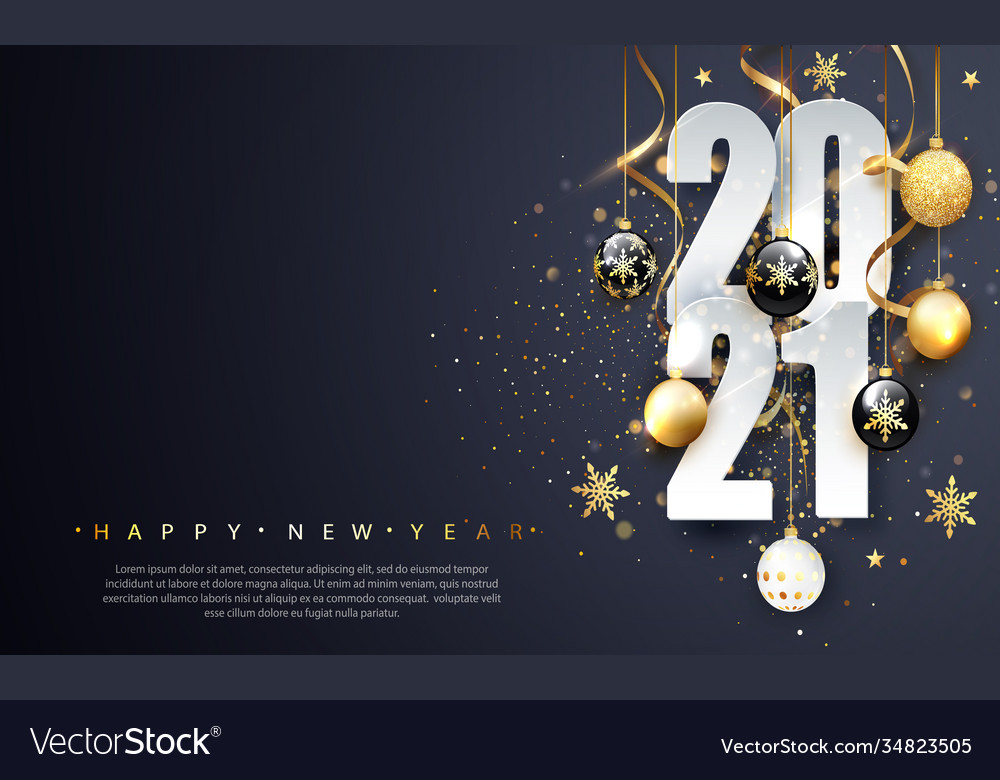 2021 happy new year happy new year banner with