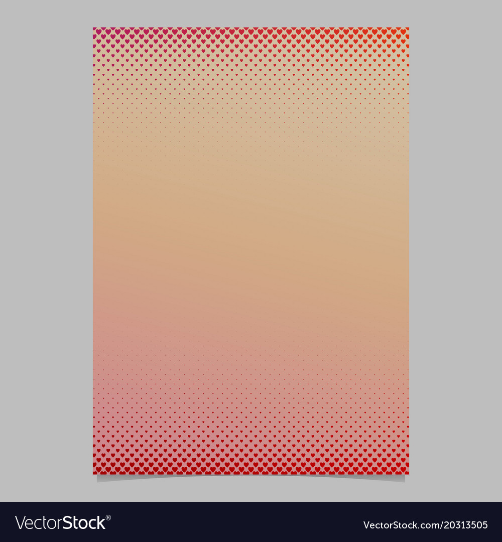 Abstract gradient heart pattern page template vector image