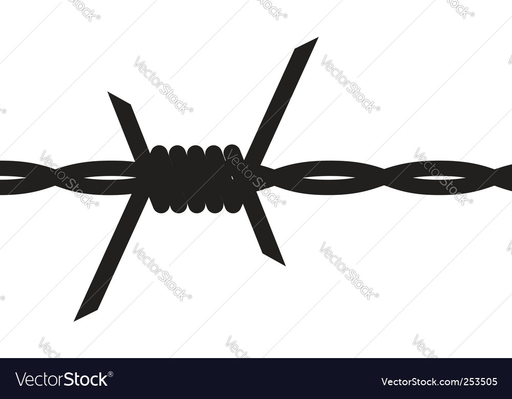 barbed wire royalty free vector image vectorstock rh vectorstock com barbed wire vector circle barbed wire vector png