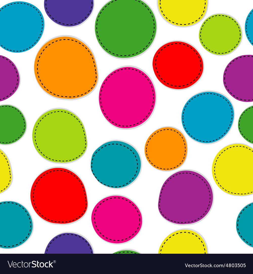 Colorful seamless pattern with round shapes