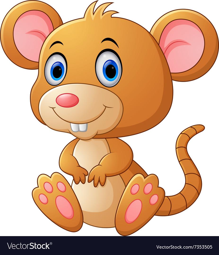 Cute mouse cartoon Royalty Free Vector Image - VectorStock