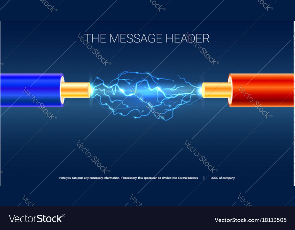 Electric cable with sparks horizontal design for