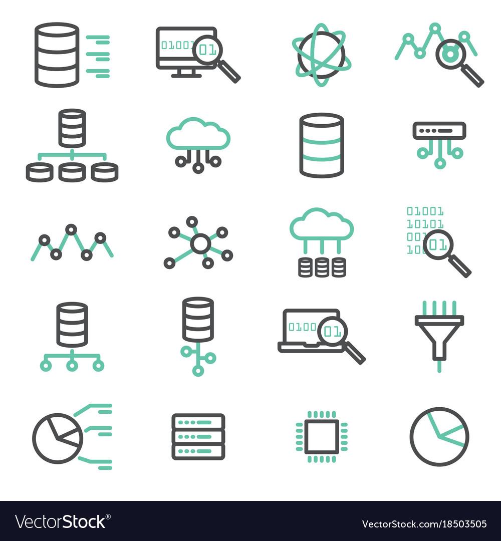 Simple set of big data database cloud computing