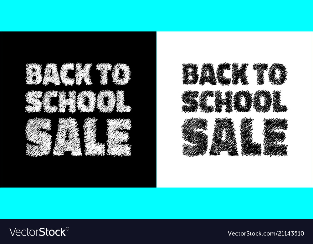 Back to school sale banners black white colors