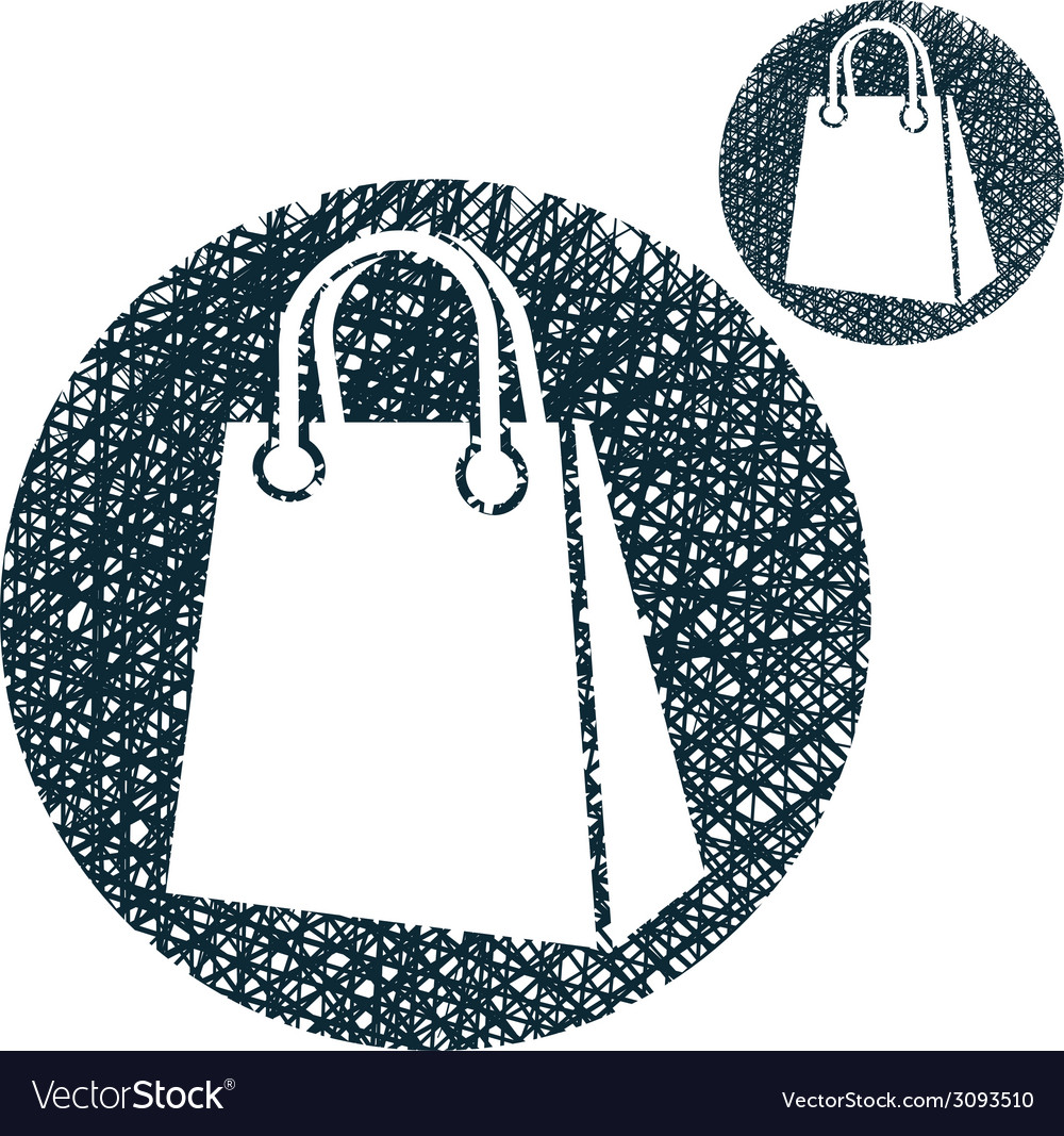 Shopping bag simple single color icon isolated on