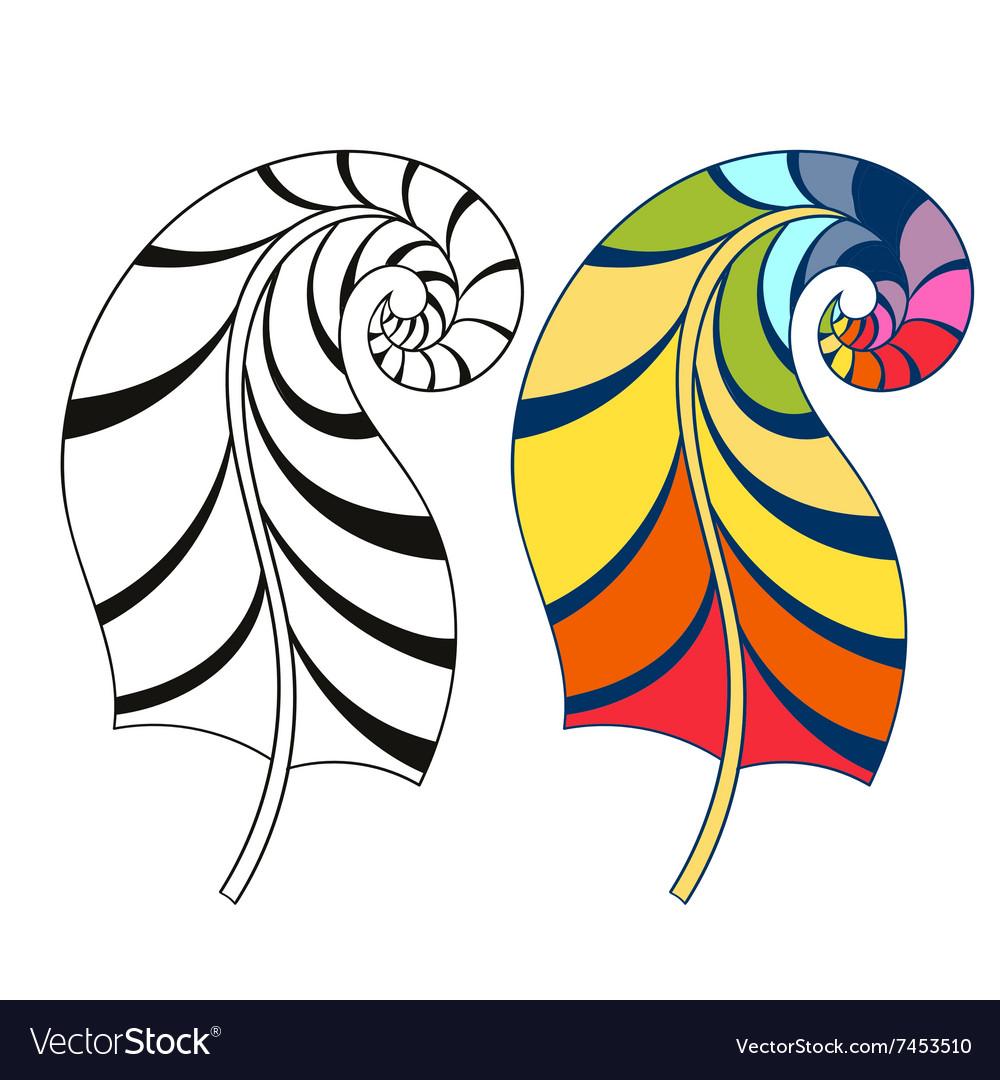Zentangle stylized tribal rainbow color and