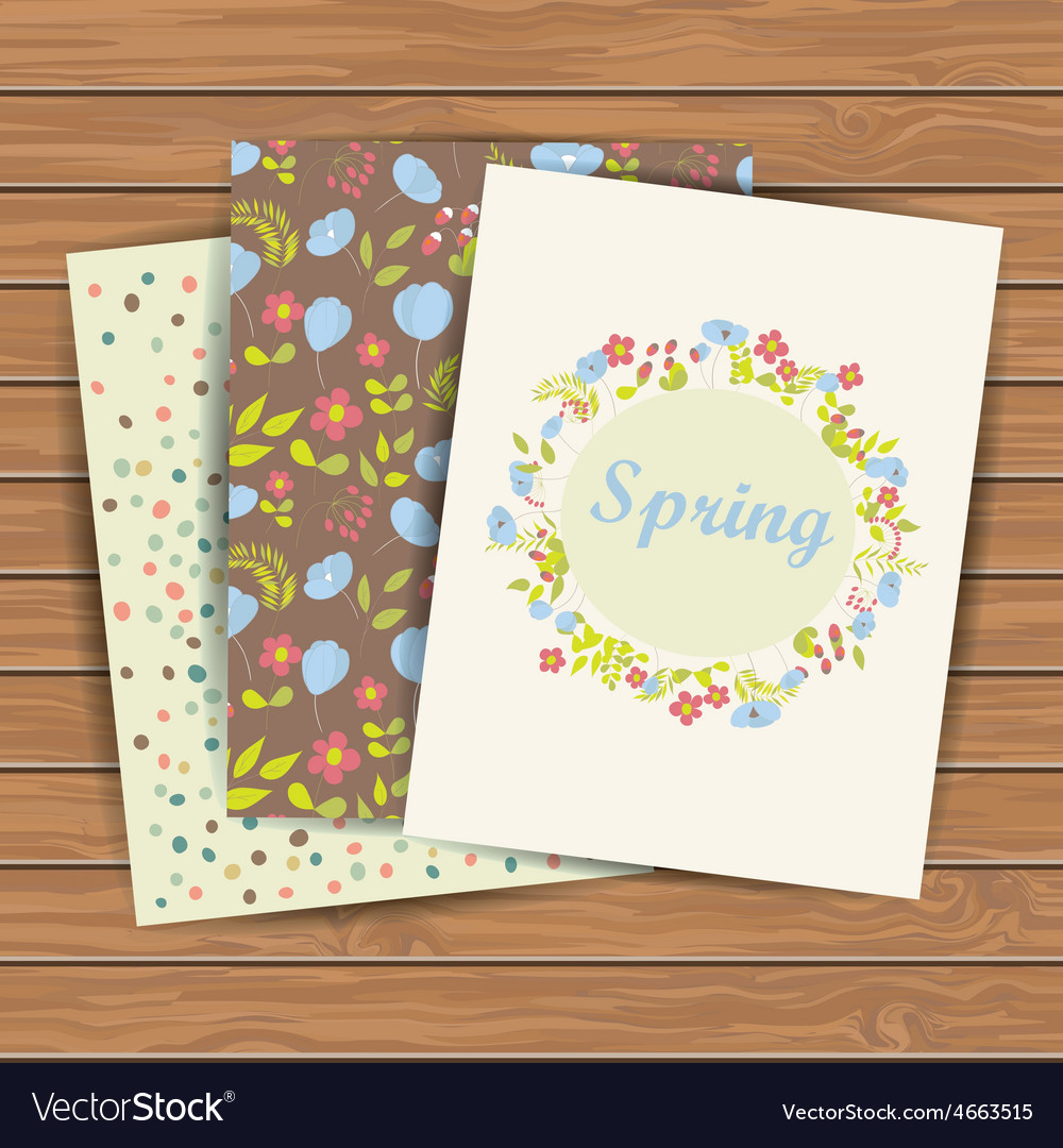 Cards with flowers vector image