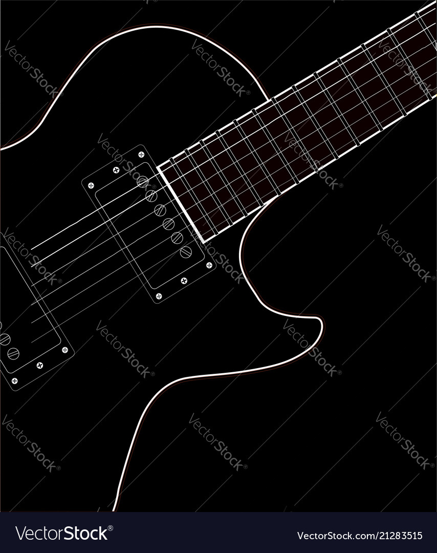 Electric Guitar Close Up Royalty Free Vector Image