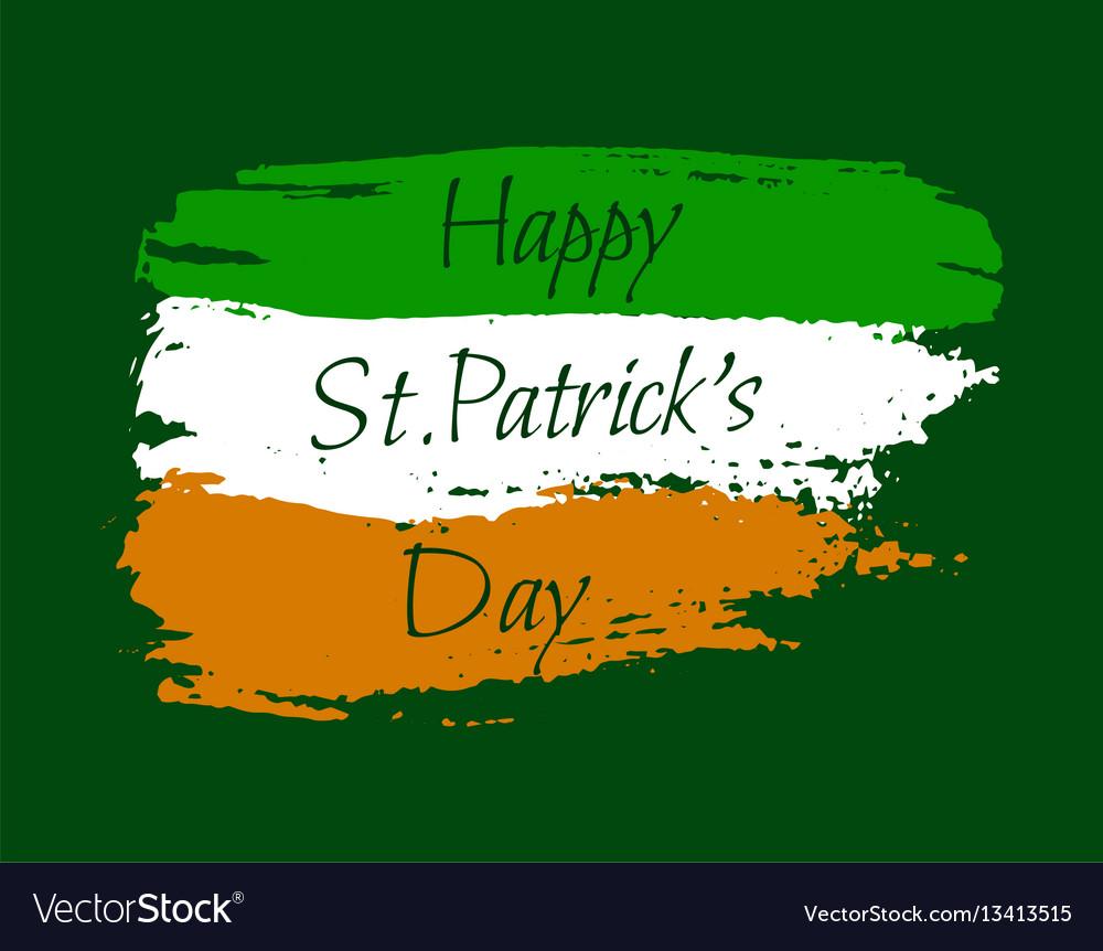 Happy st patrick background vector image