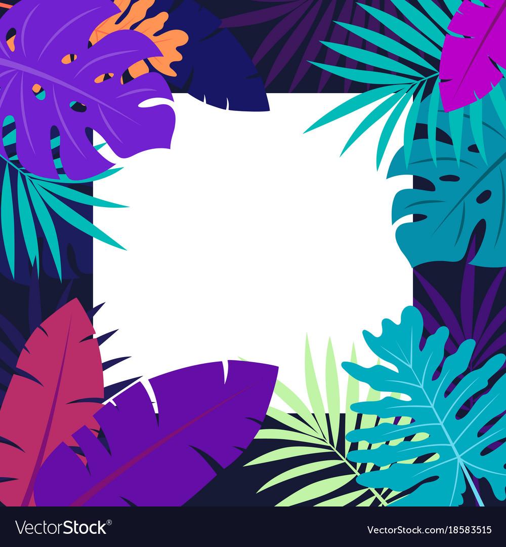 Hawaiian design with tropical plants
