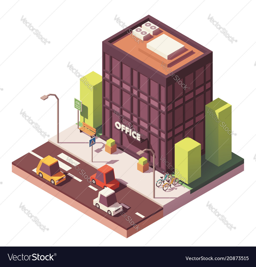 Isometric office building