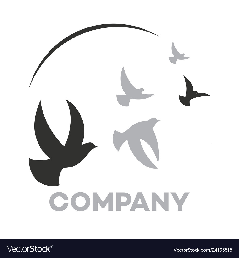 Modern dove logo