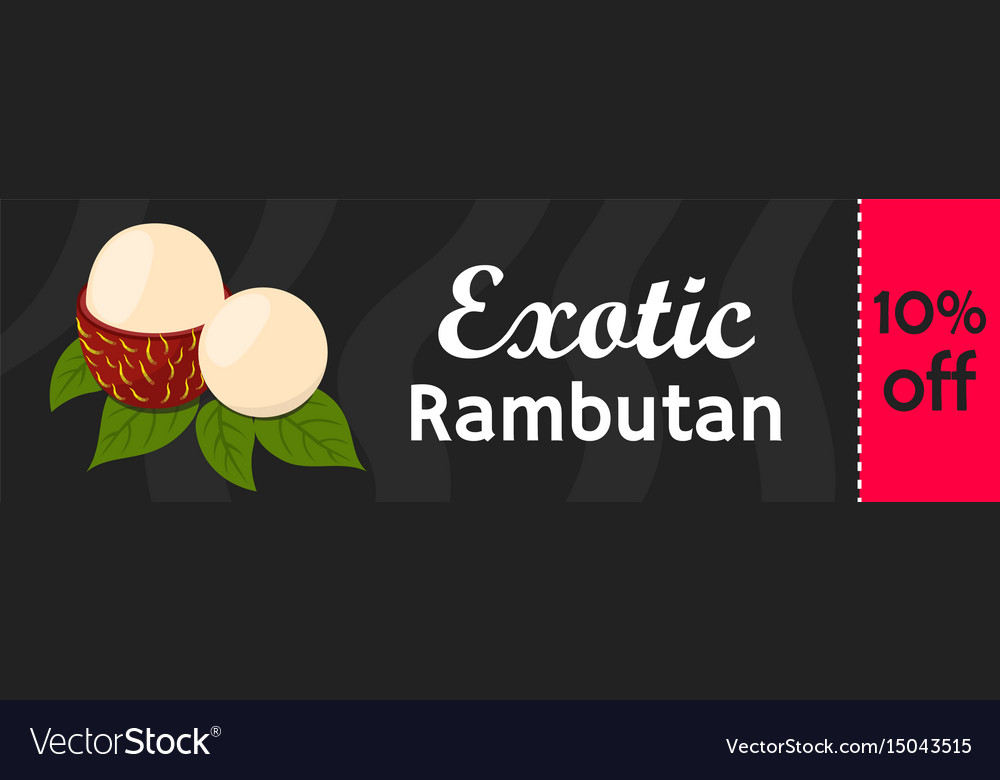 Rambutan tropical fruit on sale