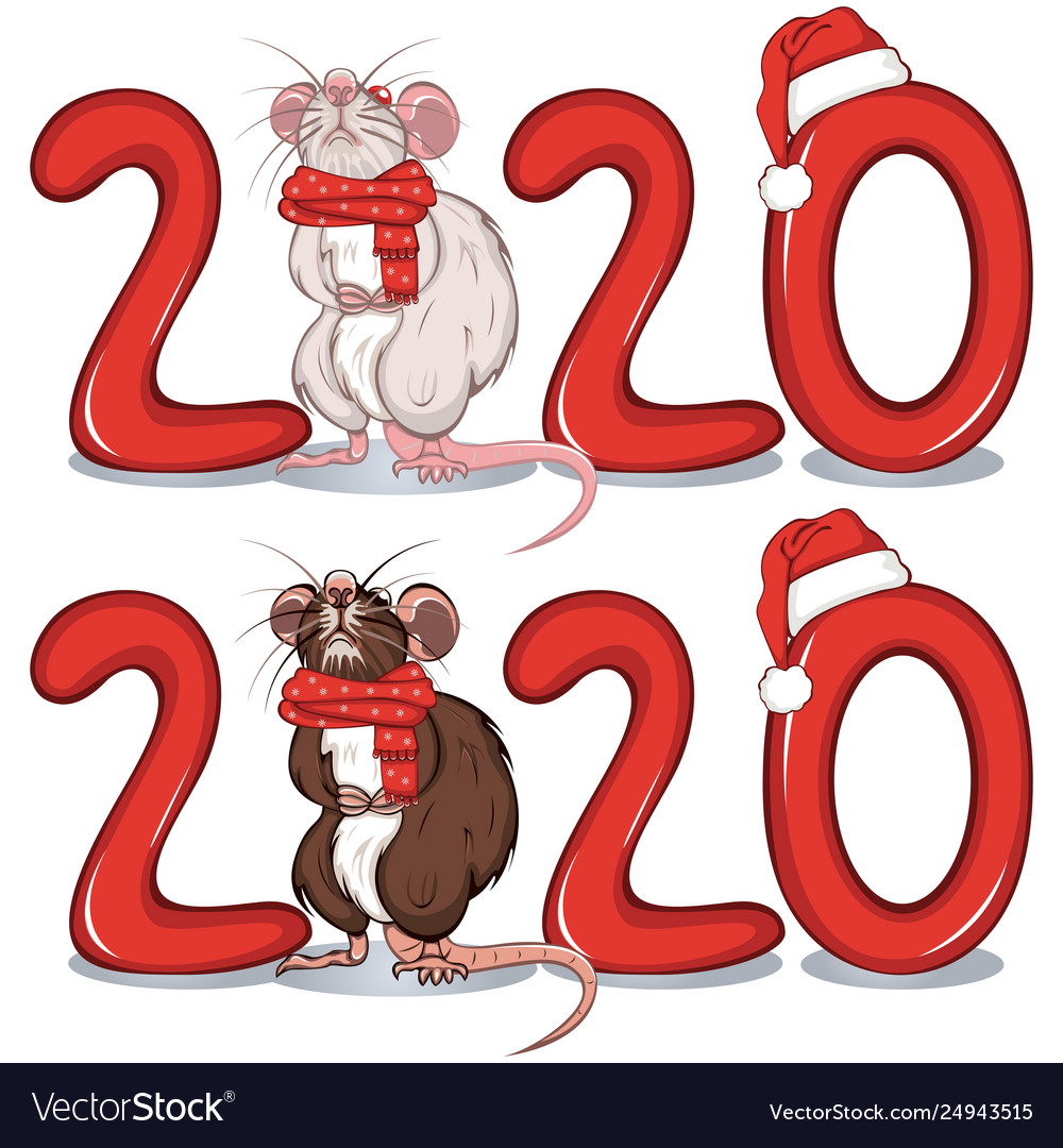 Rat among text 2020 vector