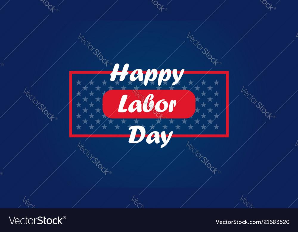 American labor day labor day card design sale