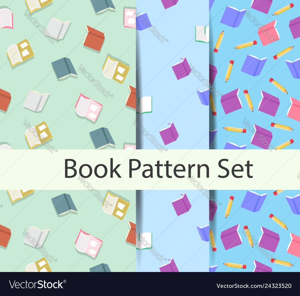 Books pattern set