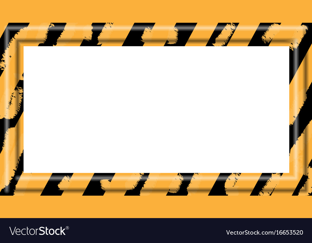 Construction warning border vector image