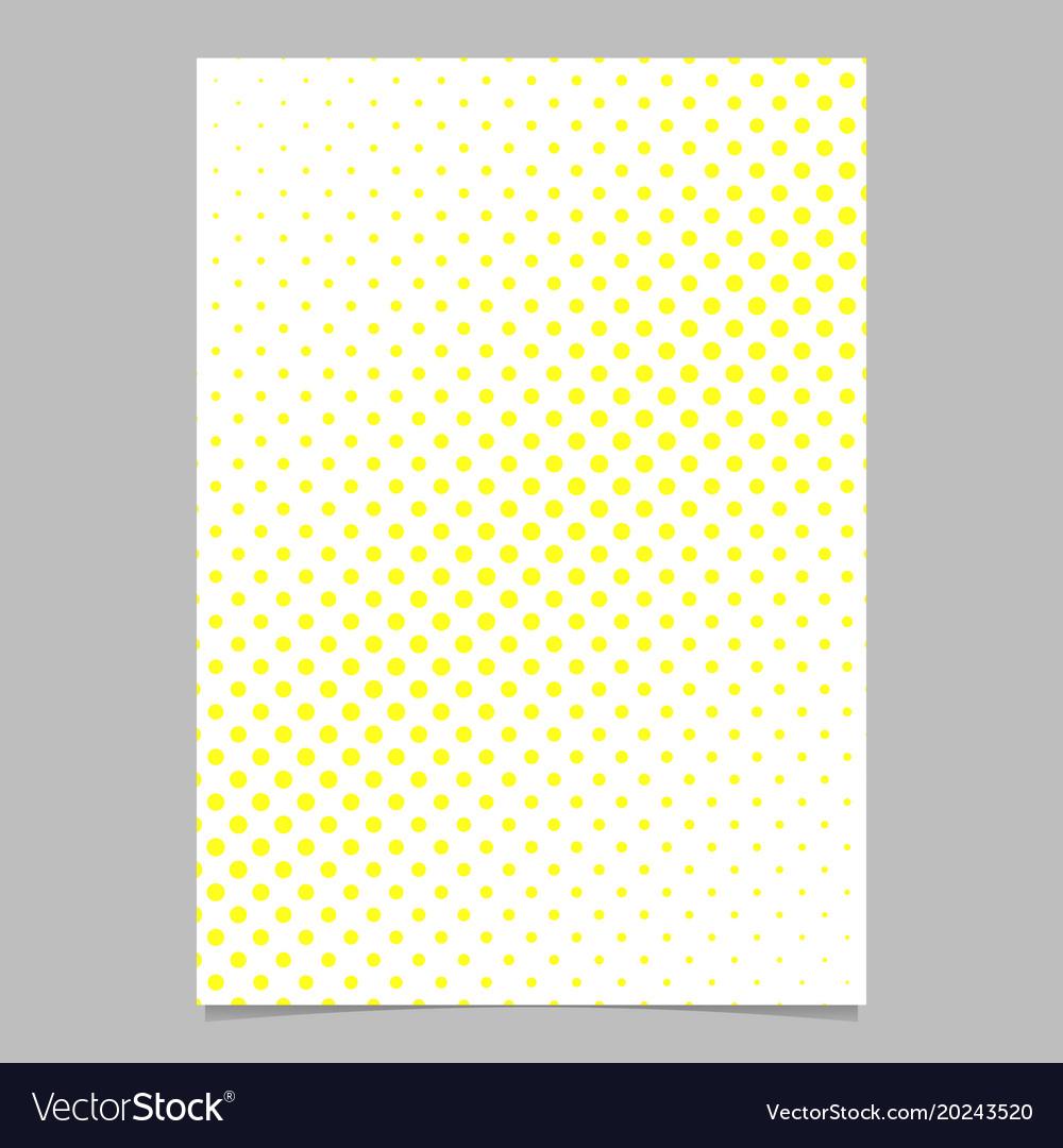 Halftone dot pattern brochure background design