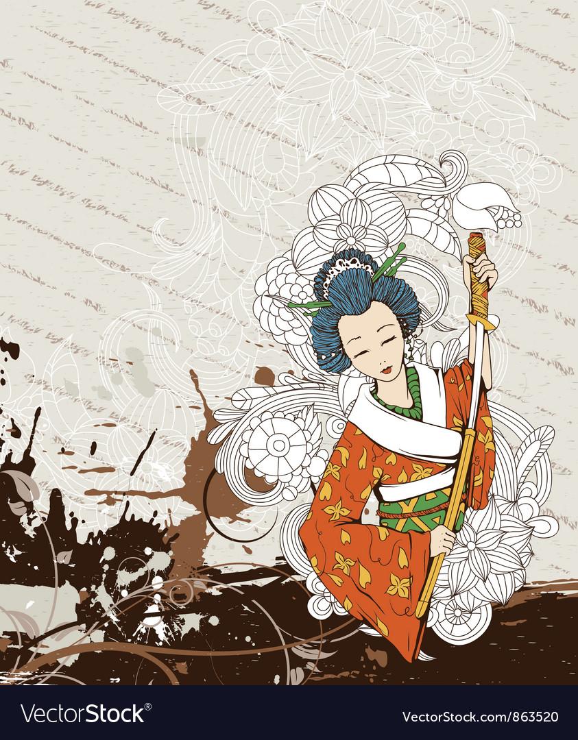 Japanese grunge background
