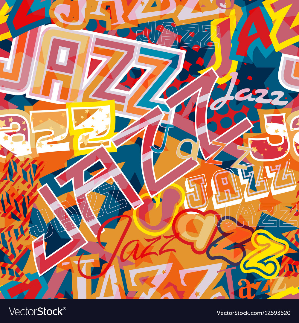 Jazz seamless tile vector image
