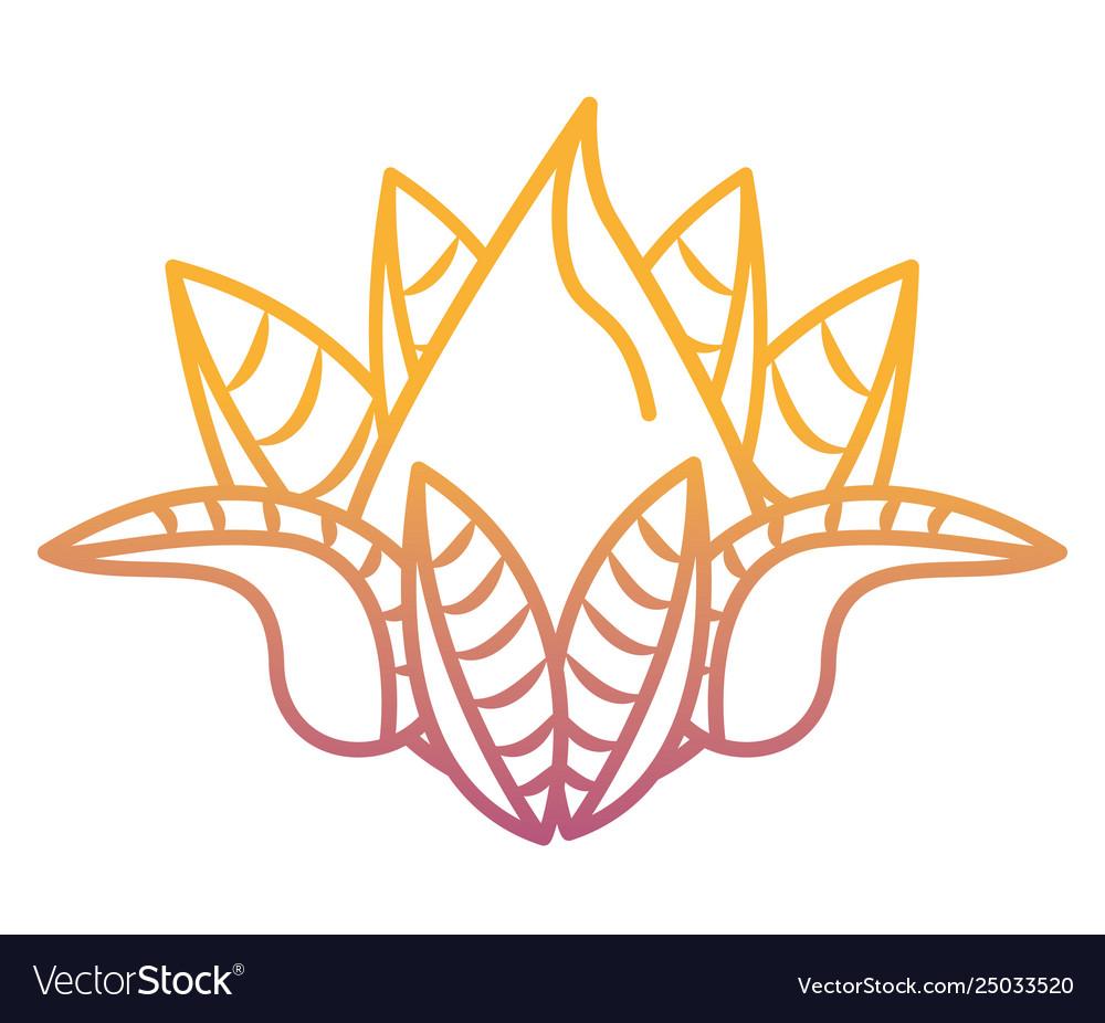 Lotus Flower Cartoon Rainbow Lines Royalty Free Vector Image