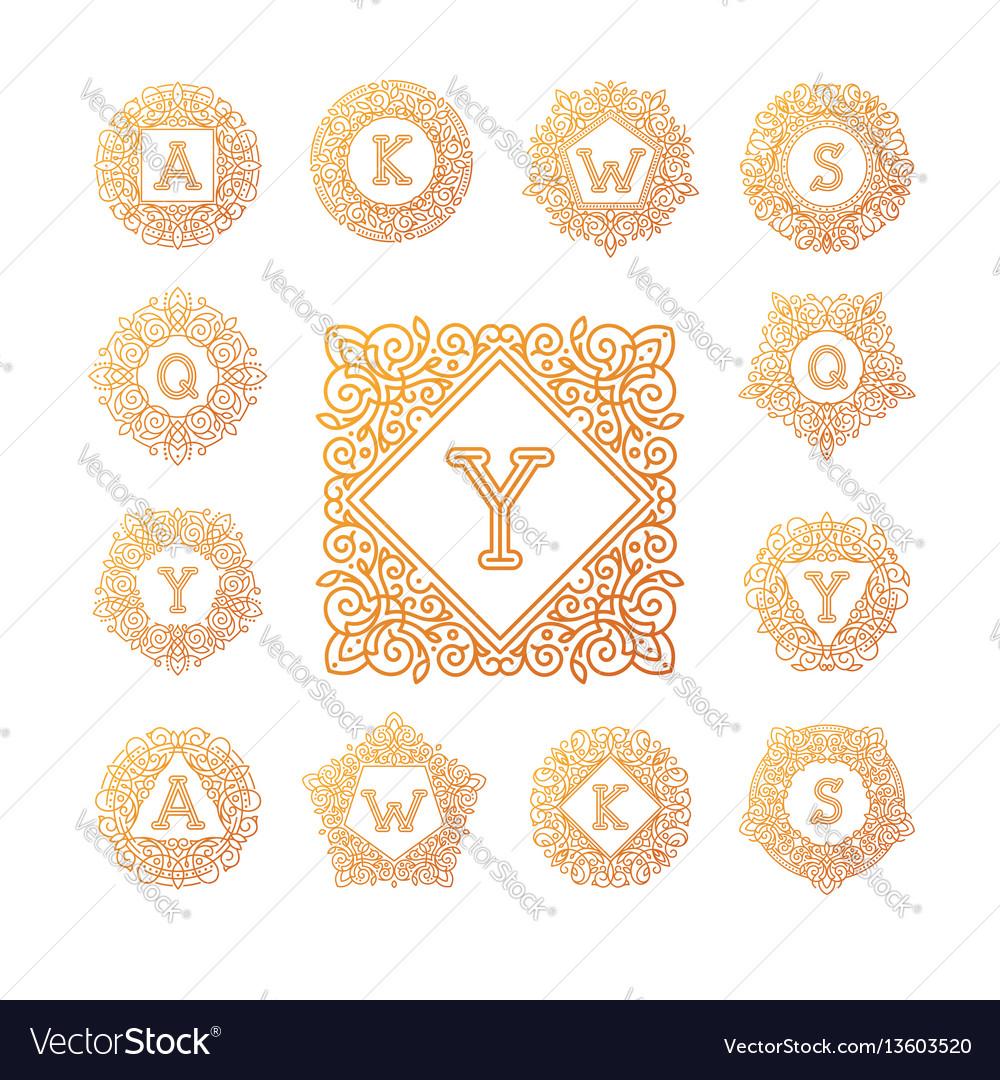 Monogram bage logo text letter