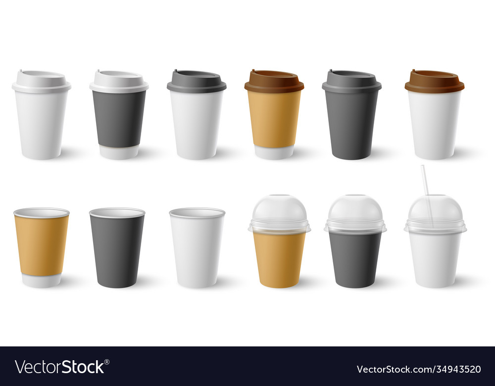Paper cup cardboard cups with cap and mugs for