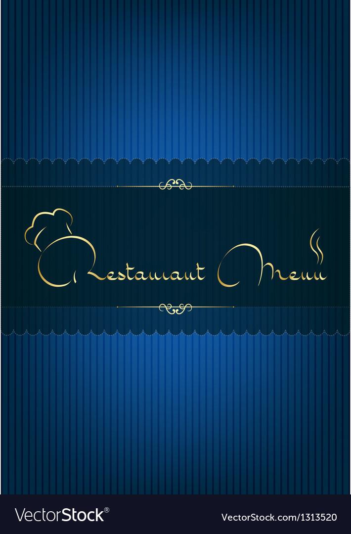 Retaurant menu blue