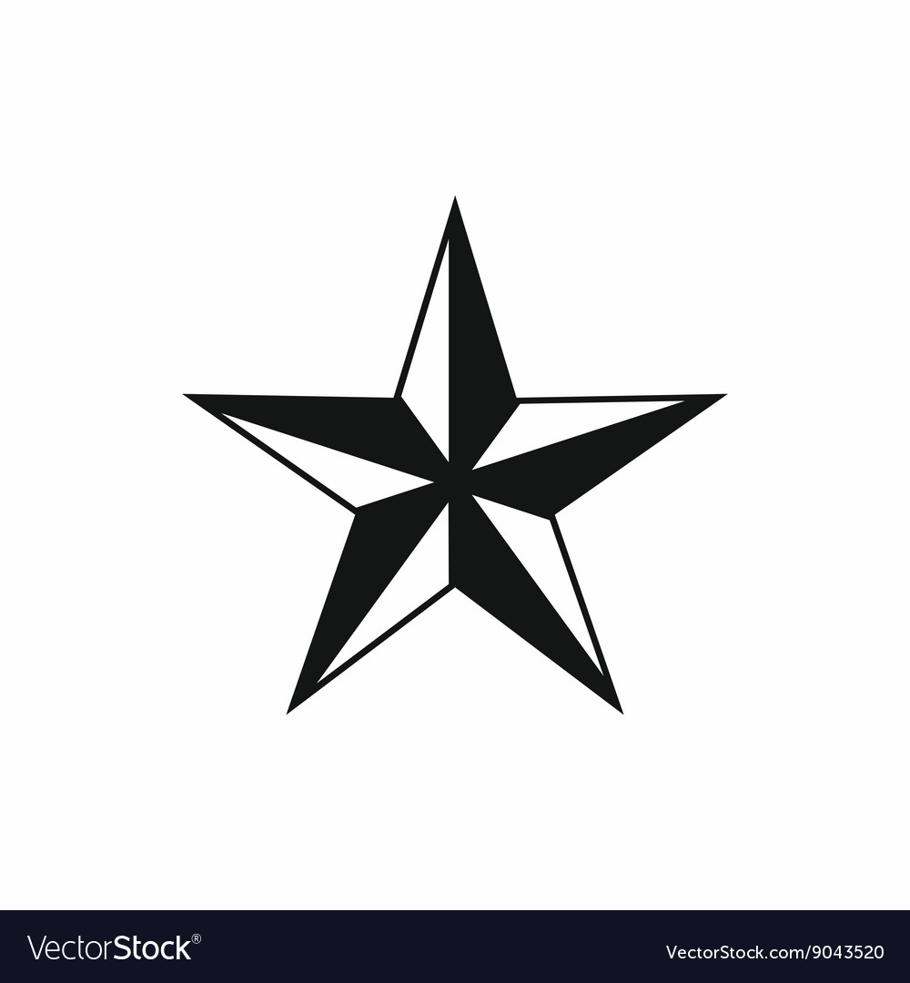 Star icon simple style