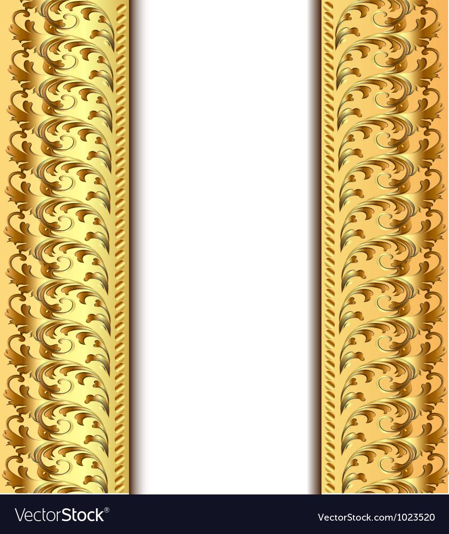 Vintage Golden Frame Royalty Free Vector Image