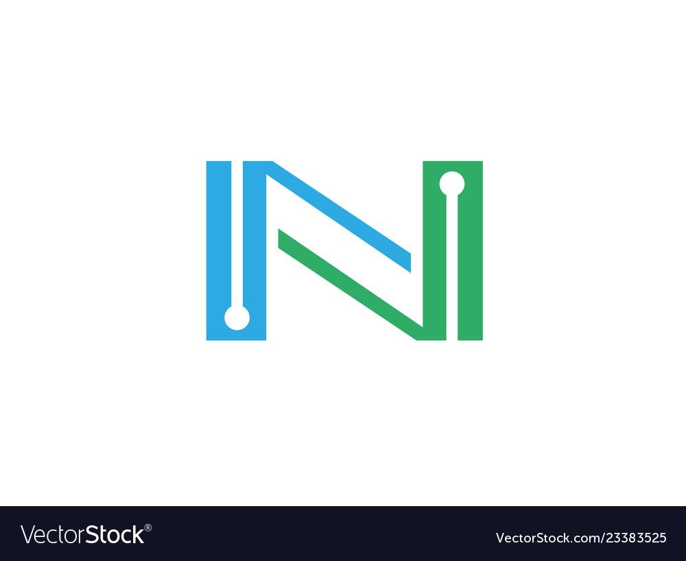 Alphabet n technology logo