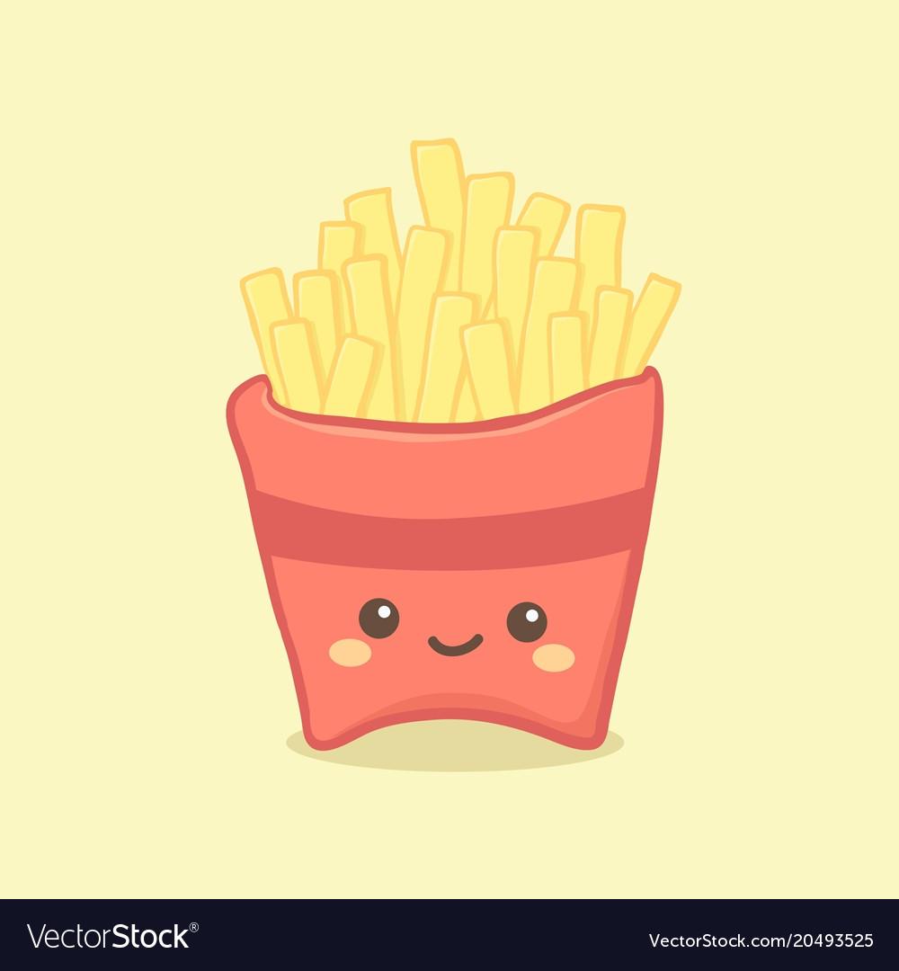 Cute french fries cartoon