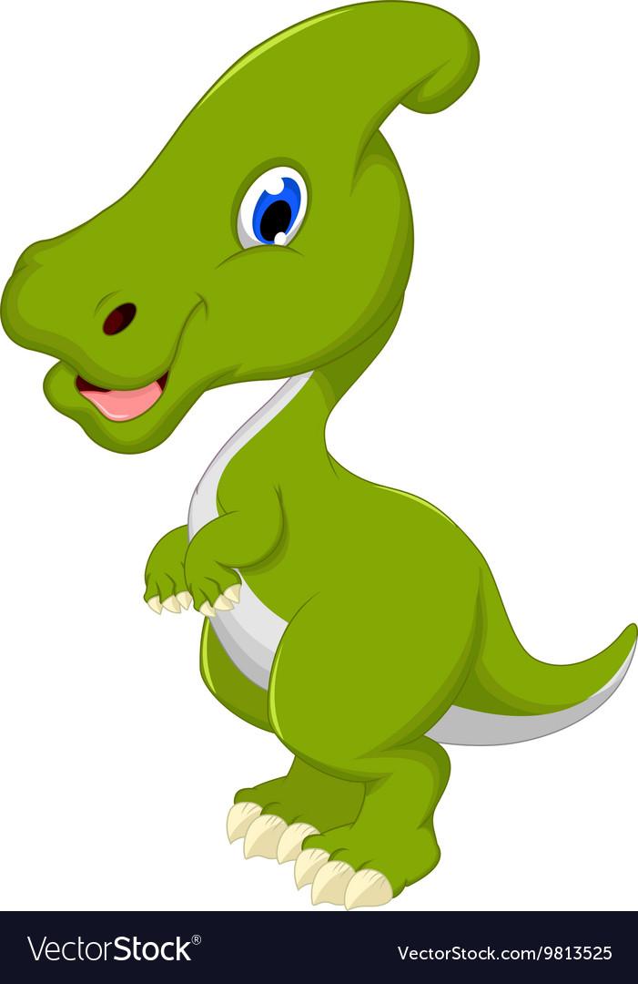 Dinosaur Parasaurolophus cartoon for you design