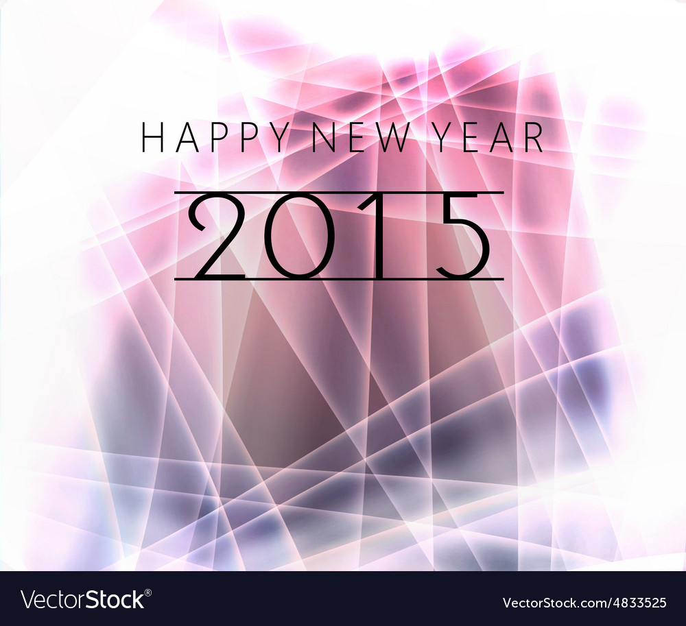 Happy new year message vector image