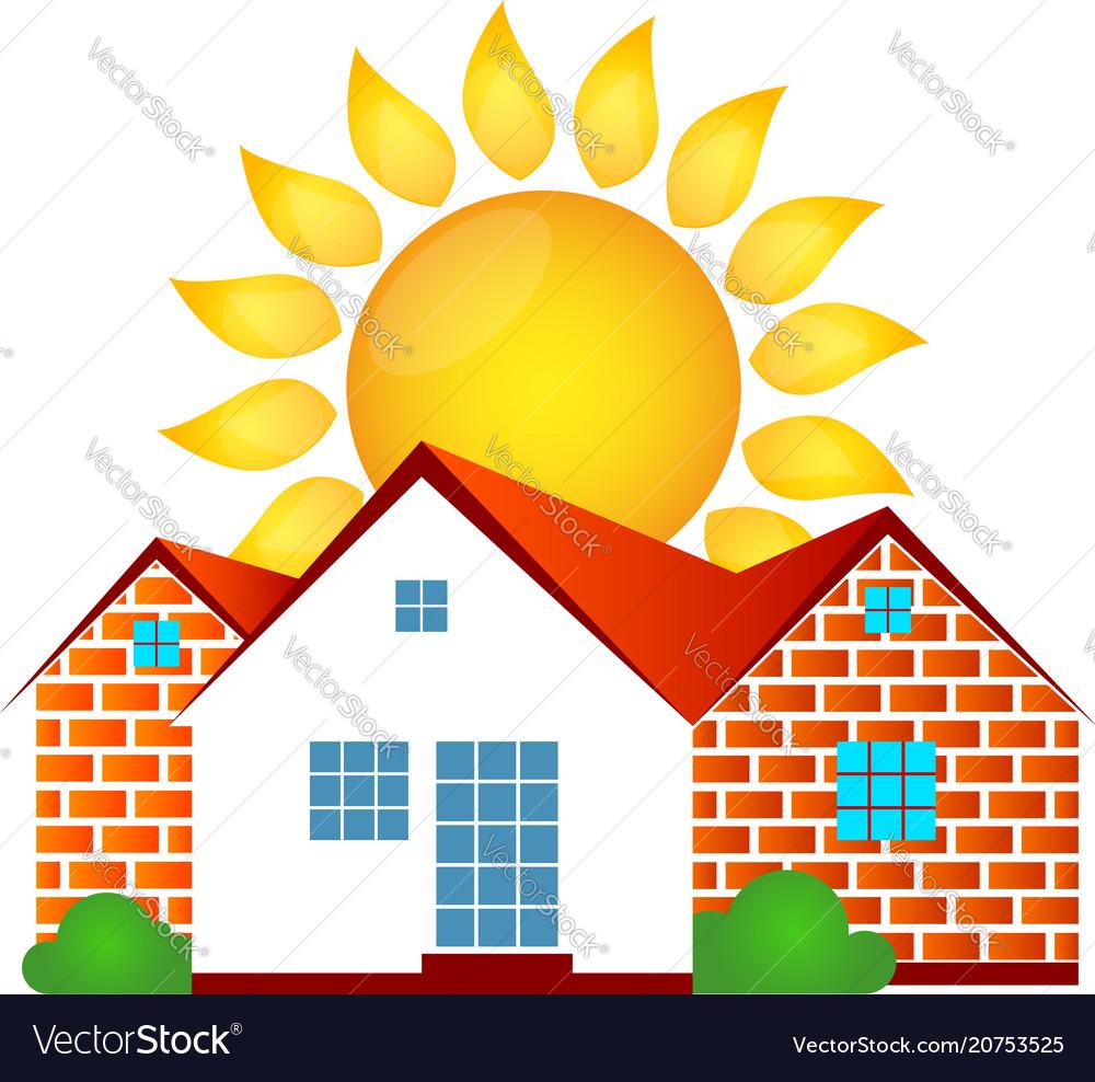 House and sun