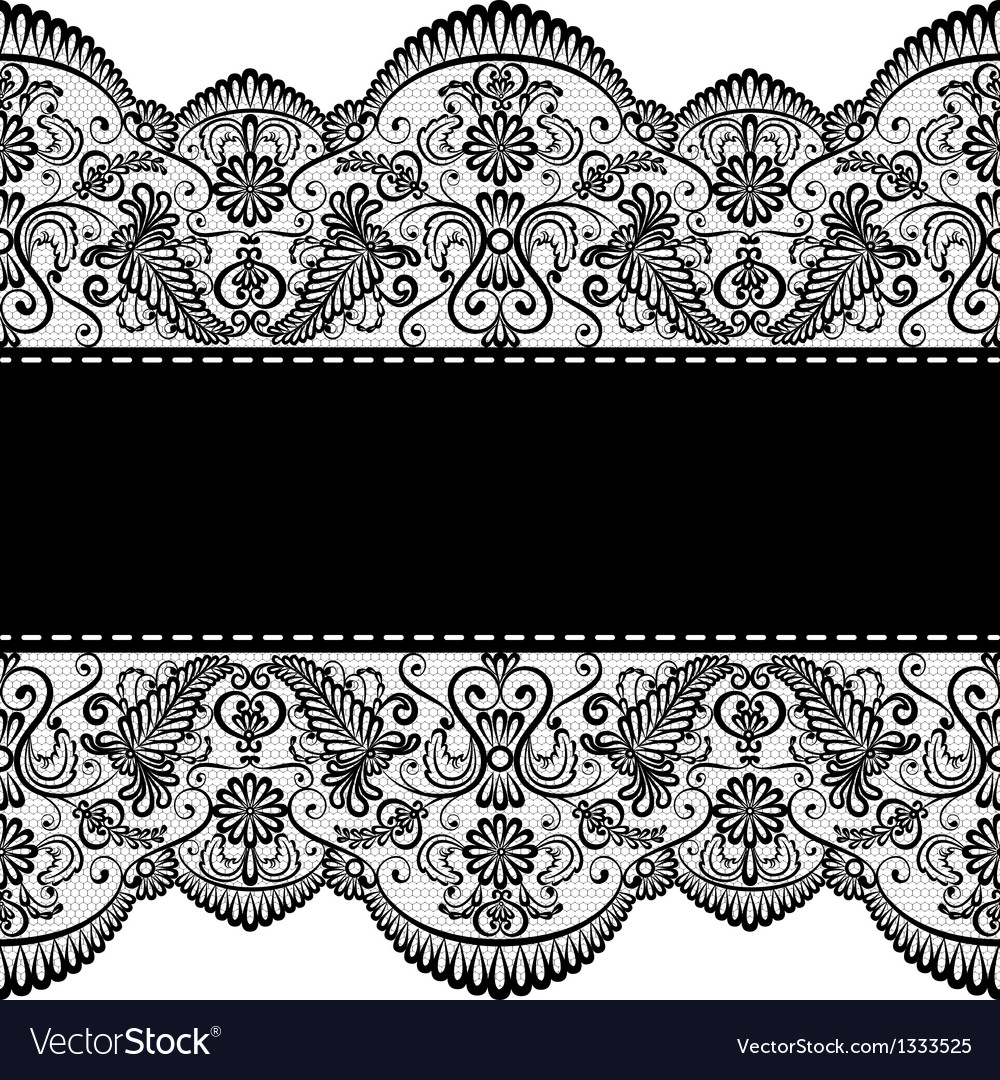 lace border royalty free vector image vectorstock rh vectorstock com gold lace border vector vintage lace border vector free