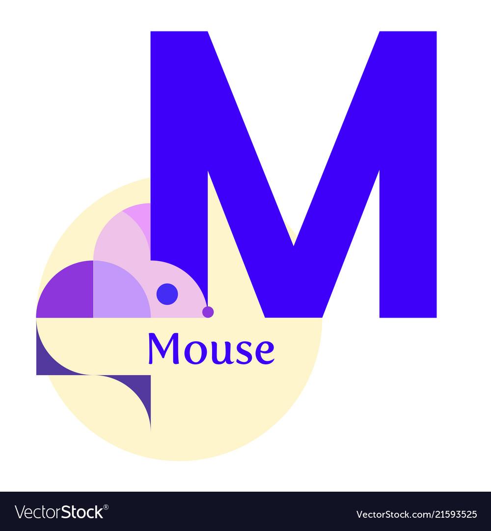 Letter m - mouse