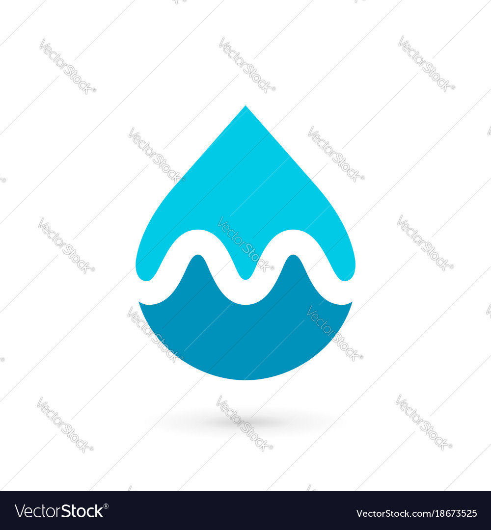Letter m water drop logo icon design template