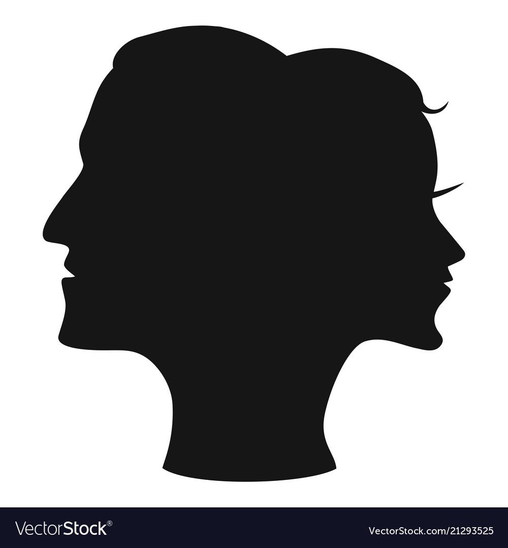Man woman head combine