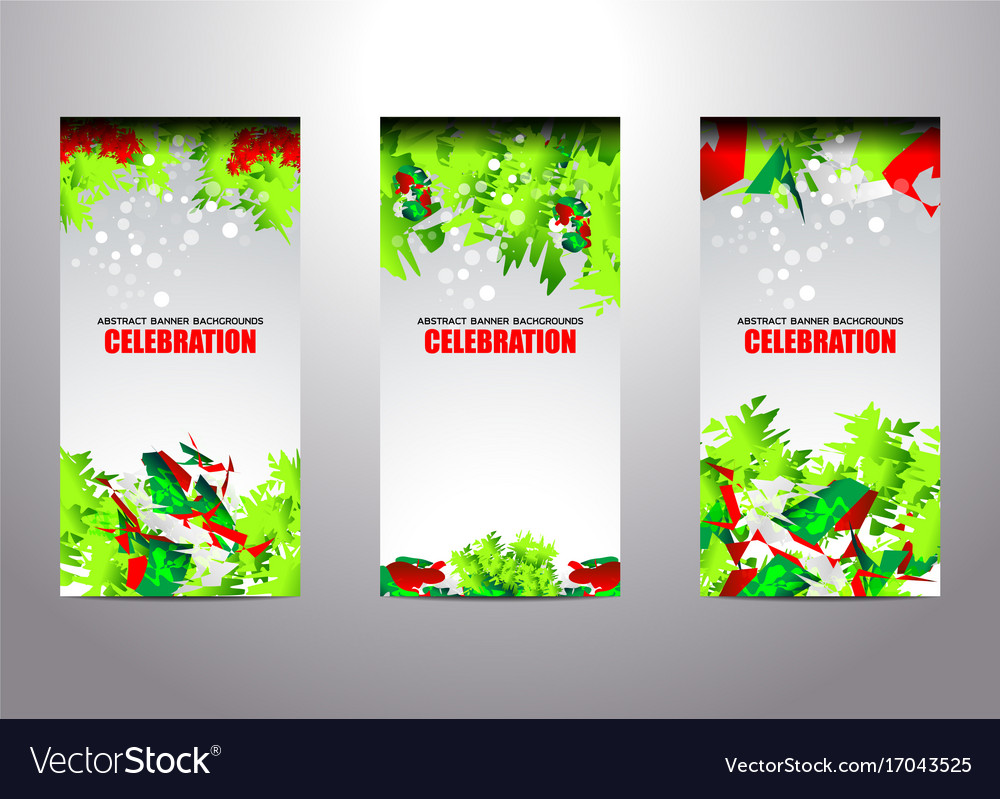 merry christmas new year vertical banner vector image