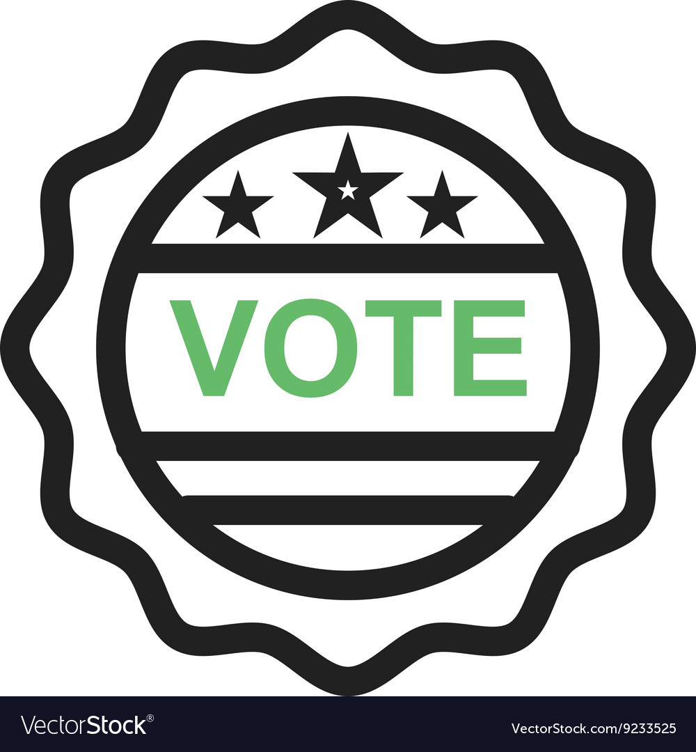 Vote sticker image