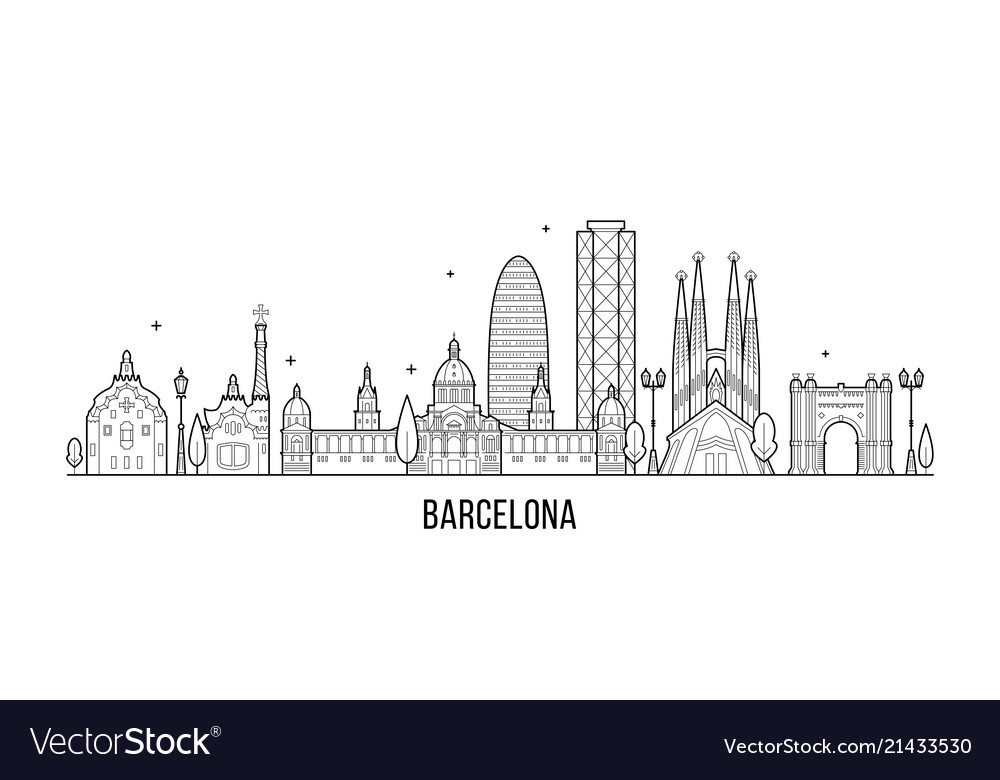 Barcelona skyline spain city buildings