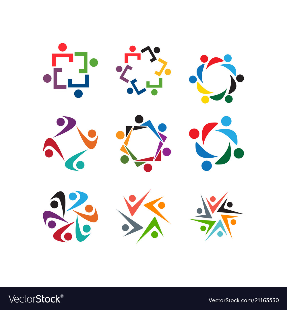 Community People Organization Logo Icon Template Vector Image