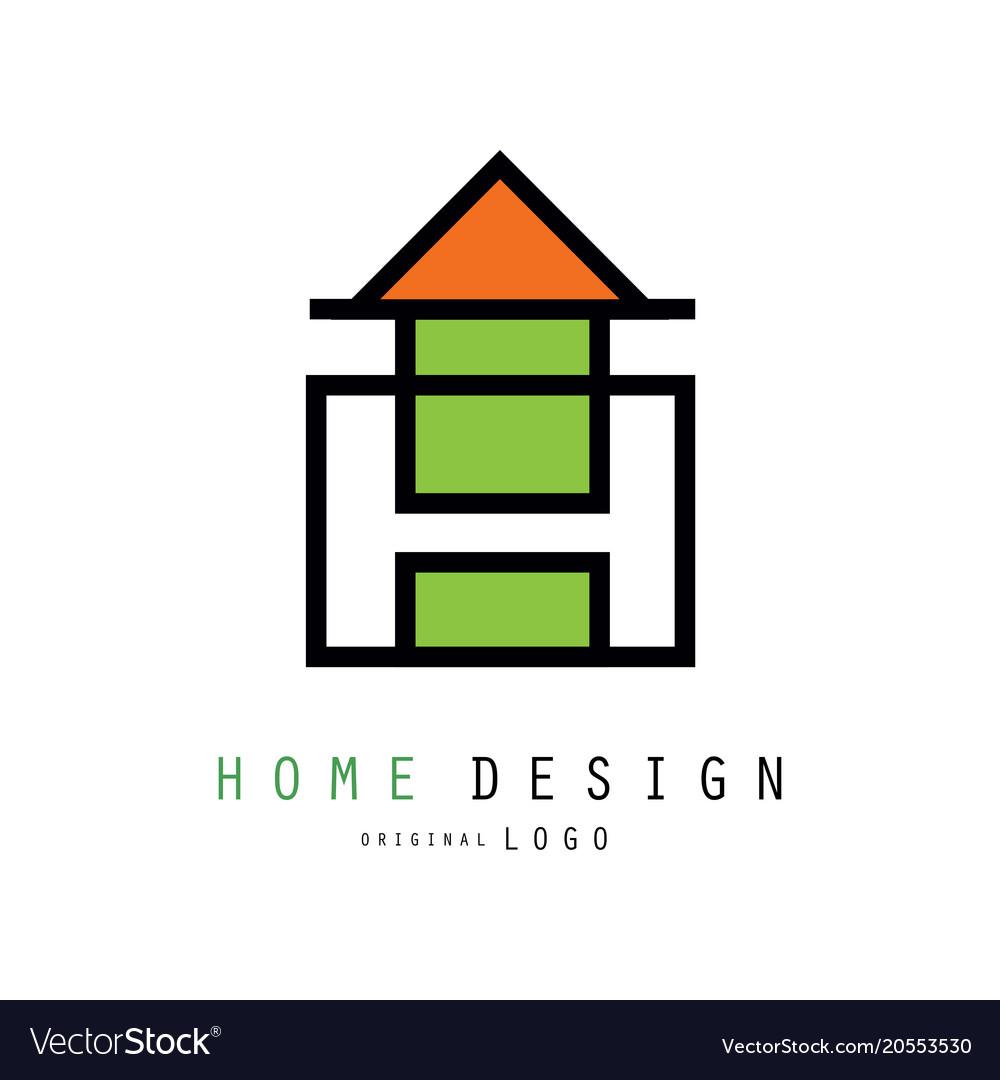 Creative logo for construction or