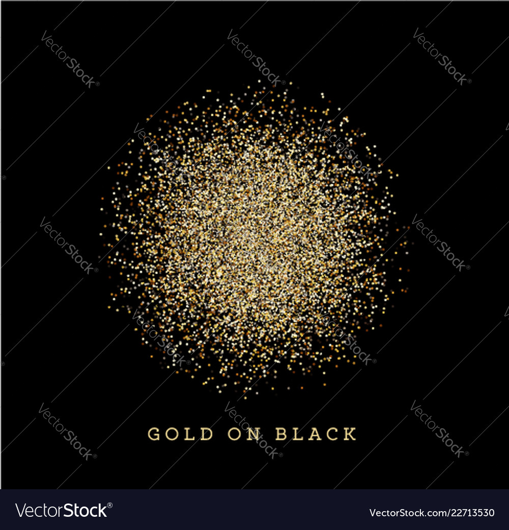Golden particles background on