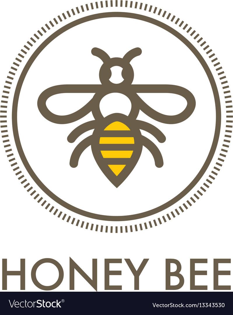 Honey bee creative sign concept