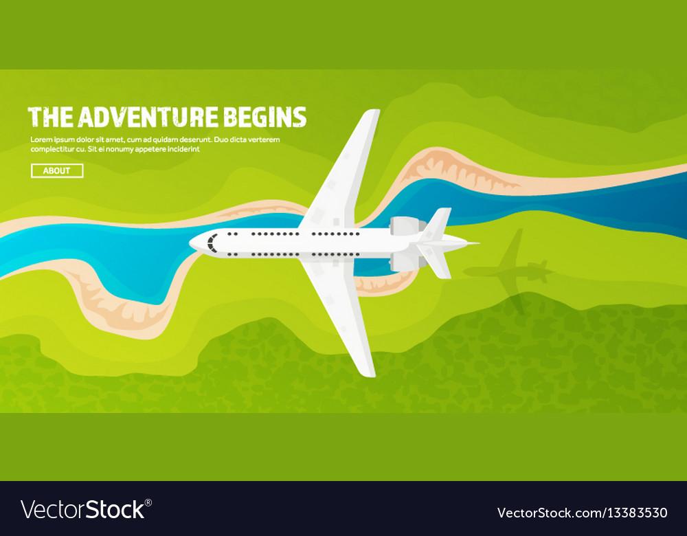 Plane travel and tourism airplane aviation