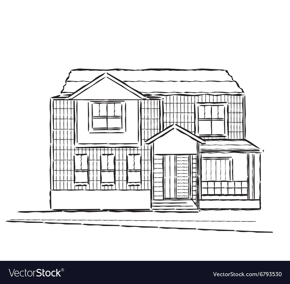 Sketch of village building